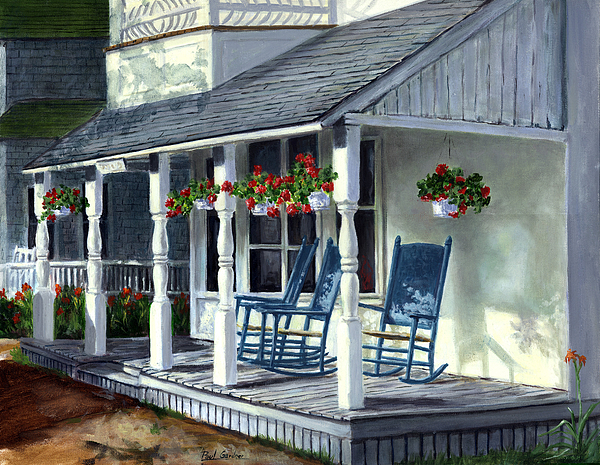 Campgrounds Painting - Blue Rockers by Paul Gardner