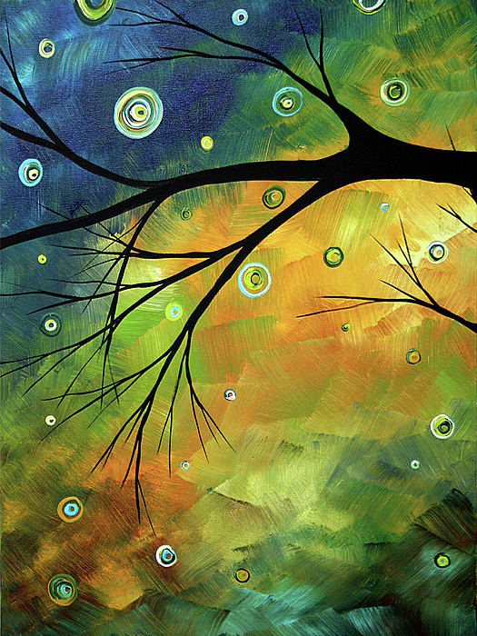 Artwork Painting - Blue Sapphire 2 By Madart by Megan Duncanson