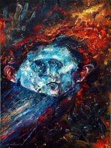 Impressionism Painting - Blue Self by Craig Werkheiser