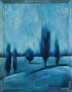 Blue Painting - Blue Serenity by Ellen Lewis
