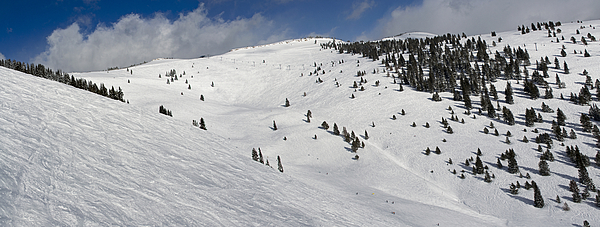 Panorama Photograph - Blue Sky Basin Panorama - Vail Colorado by Brendan Reals