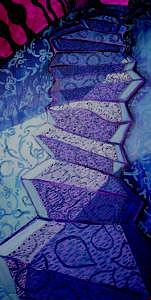 Stairs Painting - Blue Stairs by Michele Vavonese