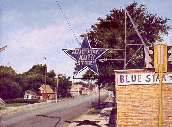 Realistic Painting - Blue Star Auto by William  Brody