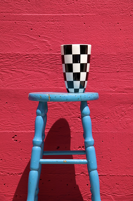 Vase Photograph - Blue Stool by Garry Gay