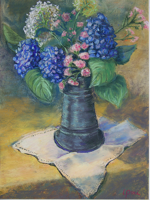 Flowers Painting - Blue Summer by Laurie Paci