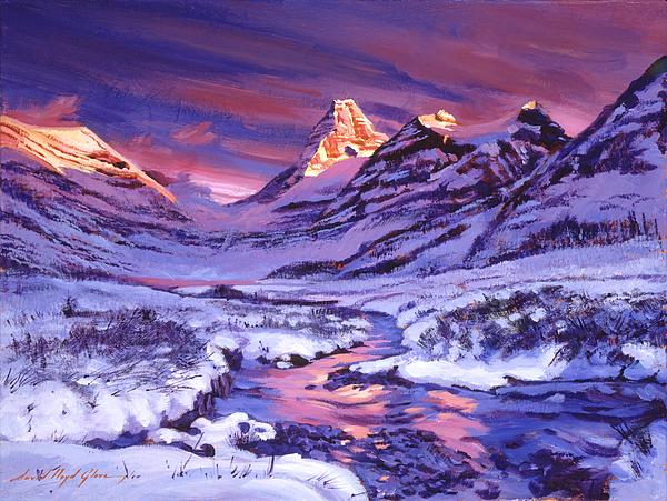 Landscape Painting - Blue Sunrise by David Lloyd Glover