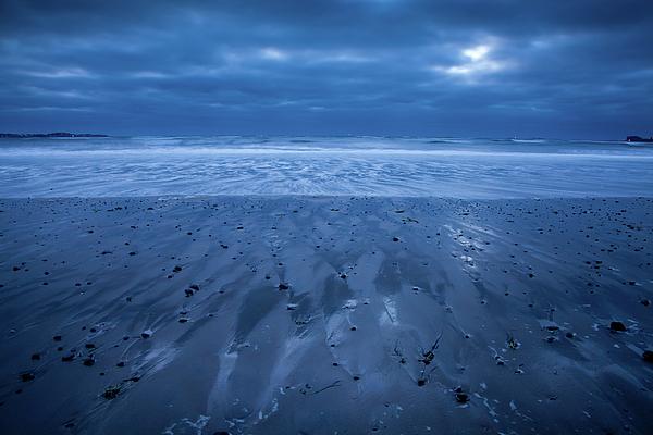 Beach Photograph - Blue Sunrise by Susan Cole Kelly