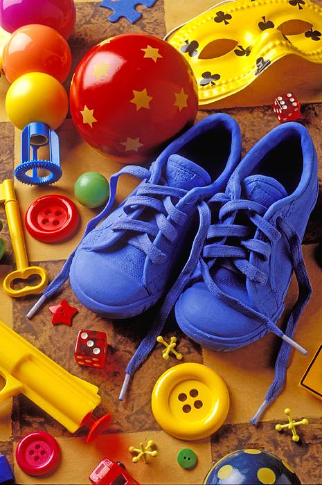 Shoes Photograph - Blue Tennis Shoes by Garry Gay
