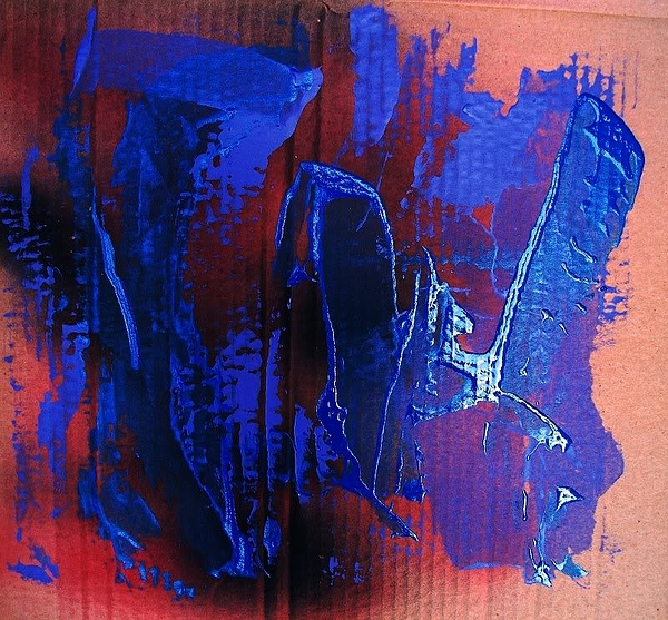 Abstract Painting - Blue Tornado by Bruce Combs - REACH BEYOND