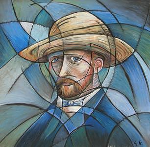 Blue Vangogh Painting by Steve Gribben