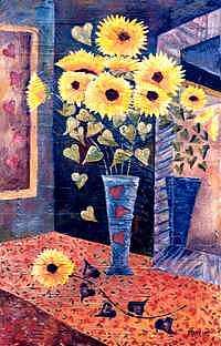Blue Vase IIi Painting by Leslie Marcus