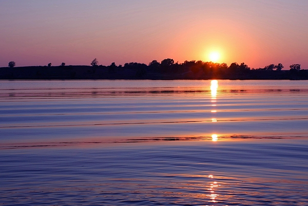 Sunset Photograph - Blue Water Sunset by Jim  Darnall