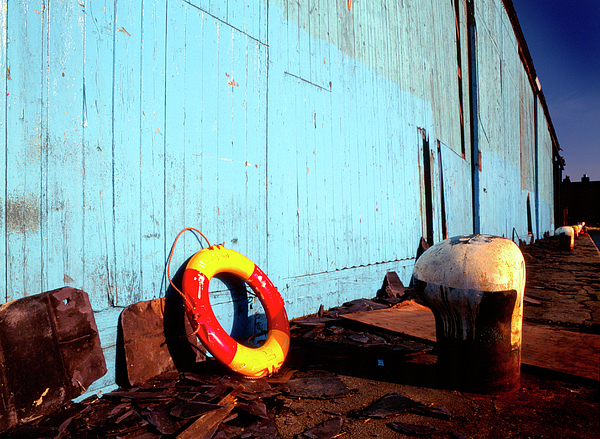 Lifebelt Photograph - Blue Yellow And Red by Peter OReilly