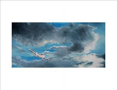 Plane Painting - Blue Yonder by Robert Ryan