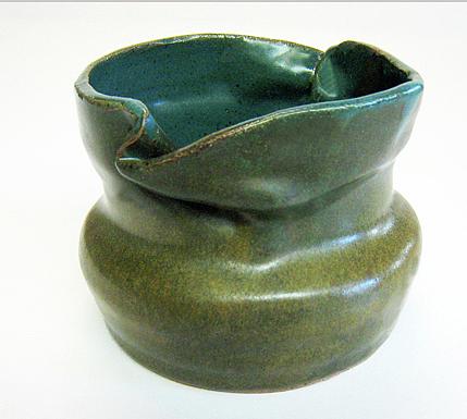 Pottery Ceramic Art - Blue Ziggle Pot by Vernon Nix