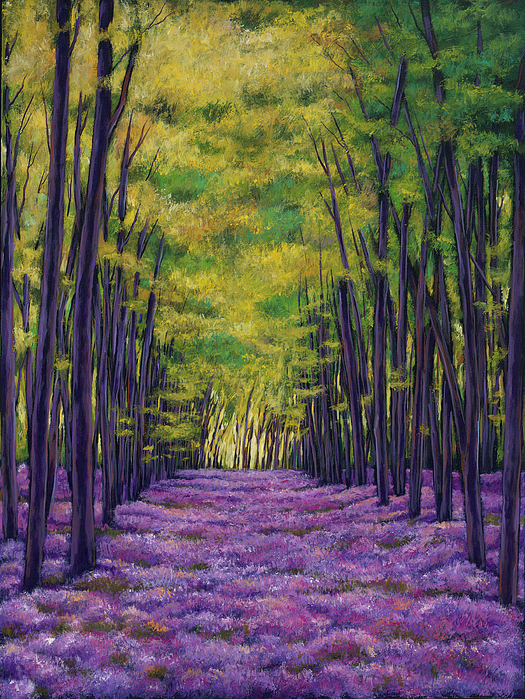 Landscape Painting - Bluebell Vista by Johnathan Harris