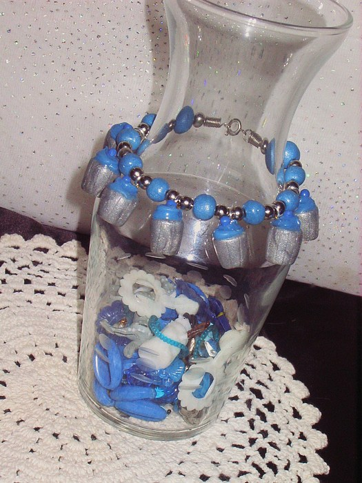 Original Jewelry - Blueberry Cupcake Bracelet by Jamie Pool