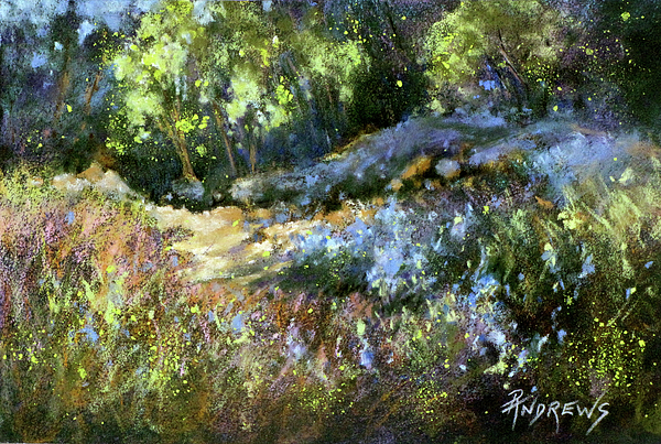 Landscape Painting - Bluebonnet Dazzle by Rae Andrews