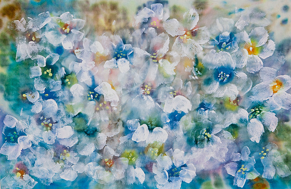 Acrylic Paint Painting - Bluebonnet by Don  Wright