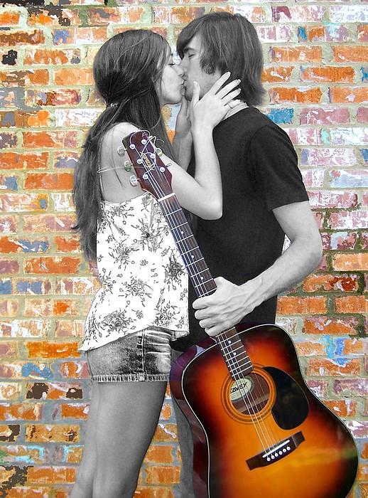 Kiss Photograph - Bluejean Underwear by Amanda  Sanford