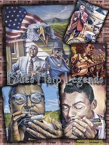 Blues Music Painting - Blues Harp Legends Poster by Brett Caplinger