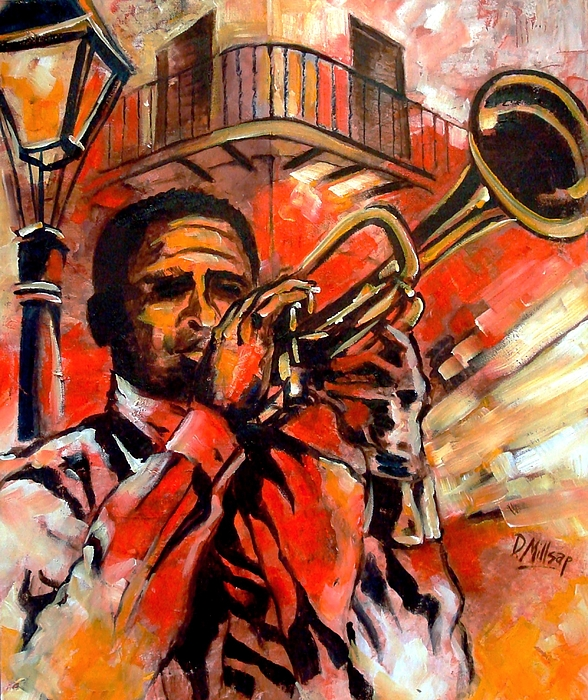 New Orleans Painting - Blues On Bourbon Street by Diane Millsap