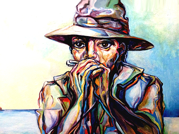 Blues Traveler  Painting by Lloyd DeBerry