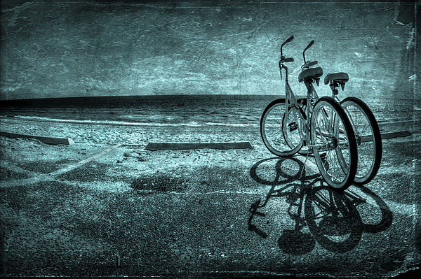 Bicycle Photograph - Bluescape by Evelina Kremsdorf