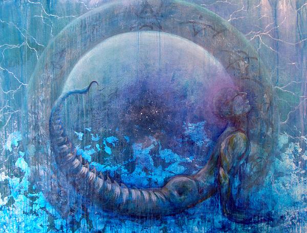 Dreamscape Painting - Bluestargate by Ashley Kujan