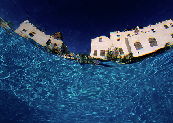 Accommodation Photograph - Blurred View Of A Hotel From Underwater by Sami Sarkis