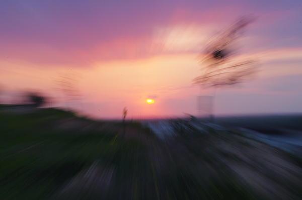 Landscape Photograph - Blurry Sunset 2 by Eldad Meyers