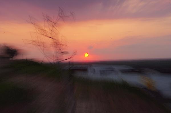 Landscape Photograph - Blurry Sunset 4 by Eldad Meyers