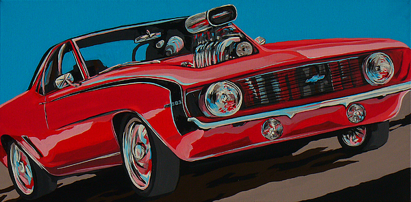 Camaro Painting - Blwn6t9 by Sandy Tracey