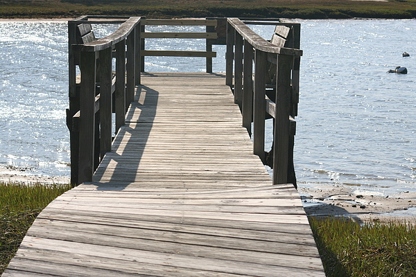 Harbor Photograph - Boardwalk by Amy Holmes