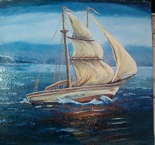 Boat Painting - Boat 1 by Fahrettin  Oktay