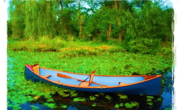 Row Boat On Bryant Pond Painting - Boat On Bryant Pond by Jonathan Galente