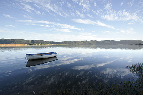 Boat Photograph - Boat On Knysna Lagoon by Neil Overy