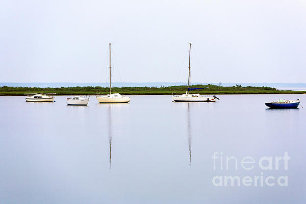 Bay Photograph - Boat Reflections by John Rizzuto