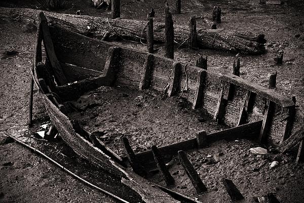 Abandon Photograph - Boat Remains by Carlos Caetano