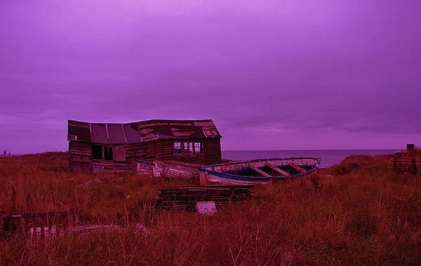 Seascape Digital Art - Boat Shed Blues by Stuart Parnell