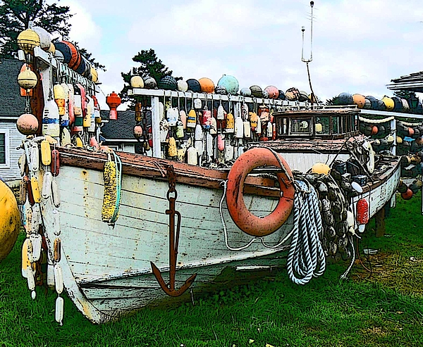 Fishing Boats Photograph - Boat Yard by Pamela Patch