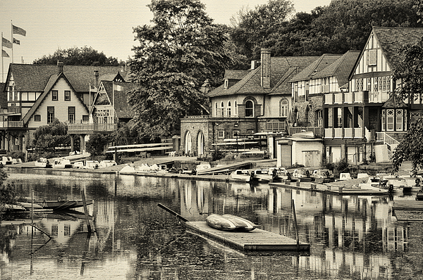 Boathouse Row Photograph - Boathouse Row In Sepia by Bill Cannon