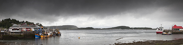 Moored Photograph - Boats Moored In The Harbor Oban by John Short