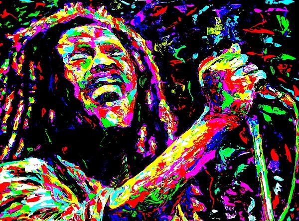 Bob Marley Painting - Bob Marley by Mike OBrien