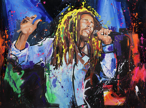 Bob Marley Painting - Bob Marley by Richard Day