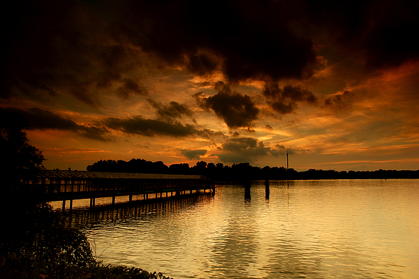 Sunset Photograph - Boblo Dock by Cale Best