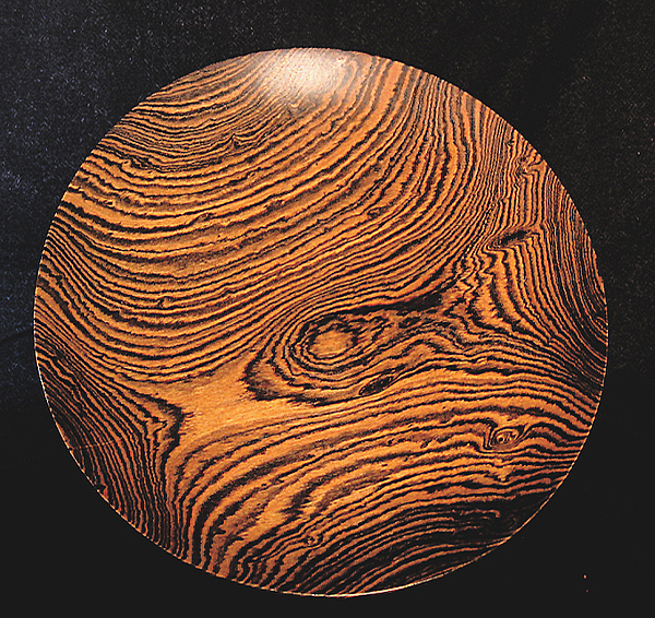 Turnings Sculpture - Bocote Platter by Chuck Turigliatto