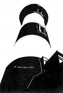 Lighthouse Drawing - Bodie Lighthouse by Robert Ryan