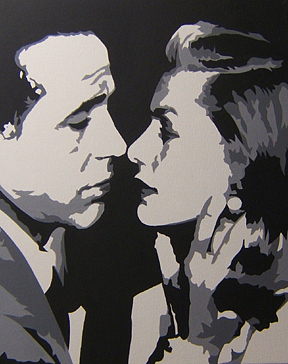 Bogart Painting - Bogart And Bacall by Michael James  Toomy