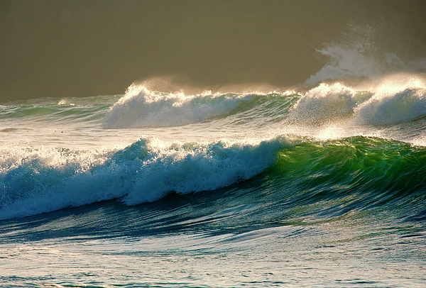 Waves Photograph - Boiler Bay Waves Rolling by Mike  Dawson